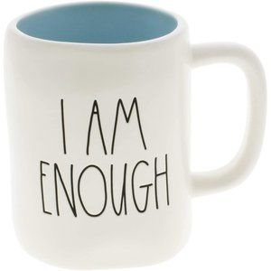Rae Dunn I AM ENOUGH Blue Interior Mug